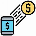 Transfer Money Payment Icon Icons Smartphone Trade