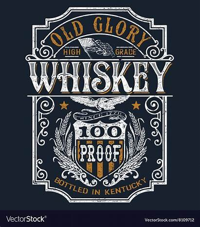 Whiskey Label Shirt Vector Americana Graphic Template