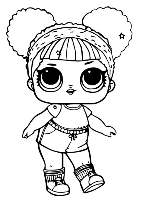 printable lol doll coloring pages hoops mvp glitter livi
