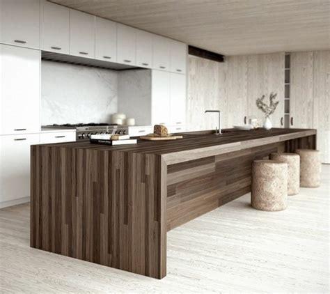 ilot bois cuisine ilot central cuisine bois massif mzaol com