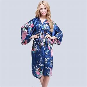 femme sexy peignoir satin kimono lingerie nuisette robe de With robe de chambre légère femme