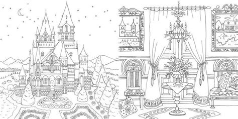 romantic country coloring book finished pages coloring