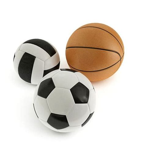 ball soccer basketball volleyball cgtrader