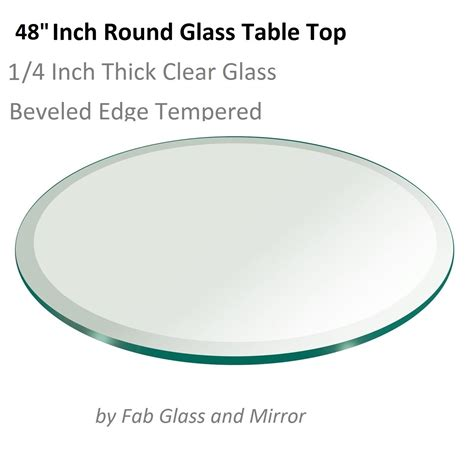 48 glass table top 48 quot round tempered glass table top 1 quot beveled edge