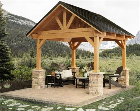 Backyard Structure Ideas by Breckenridge Pavilion With Metal Roof Berlin Gardens