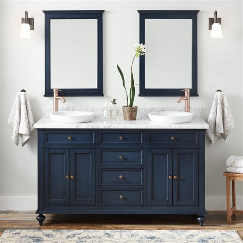 """Unique recessed base is ideal for holding jewelry, helps keep small valuables safe from being. 60"""" Keller Double Vanity for Semi-Recessed Sinks - Vintage ..."""