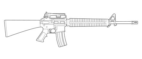 M16a4 Lineart By Masterchieffox On Deviantart