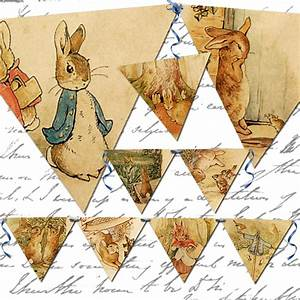 Vintage Peter Rabbit banner oneblankdream digital
