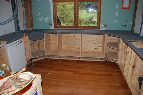 béton ciré sur carrelage cuisine liaisin bois syporex et beton ciré