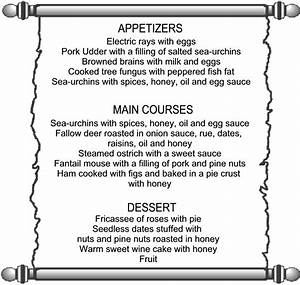 ancient roman menu food related keywords suggestions With roman menu template