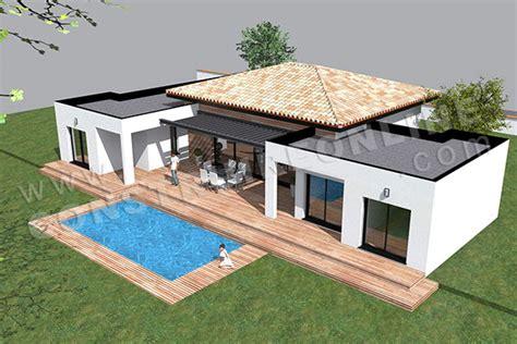 plan de maison plain pied moderne plan de maison moderne template