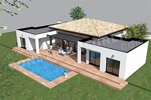 stunning maison cubique moderne plain pied photos design With plan de maison cubique 18 maison d architecte contemporaine mc immo