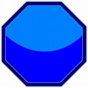 Blue Stop Sign Clip Art at Clker.com - vector clip art ...