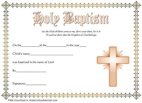 baptism certificate template word   designs