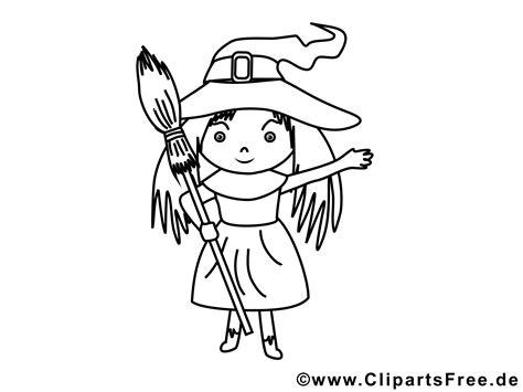 kleine hexe mit besen bild malvorlage zum drucken und ausmalen