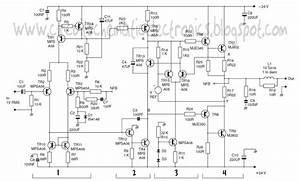 Schematic 1200w Power Amplifier Circuit And T