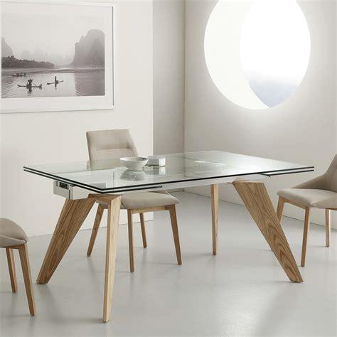 table en verre but table extensible michigan en verre inox et bois massif