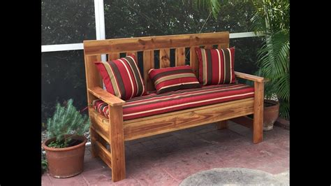 upcycled wood outdoor bench garden bench diy   youtube
