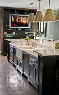 Sink Island Kitchen Two Tiered Kitchen Island Ideas