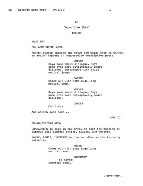 Script Writing Template Script Writing Template Template Business