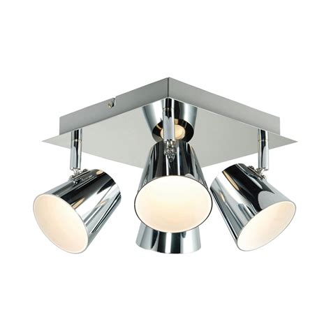 kitchen ceiling light fittings endon g3223515 torsion four light square led ceiling 6513