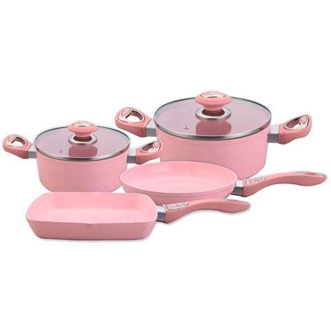 pcs beautiful design forged aluminum cookware set dishwasher safe