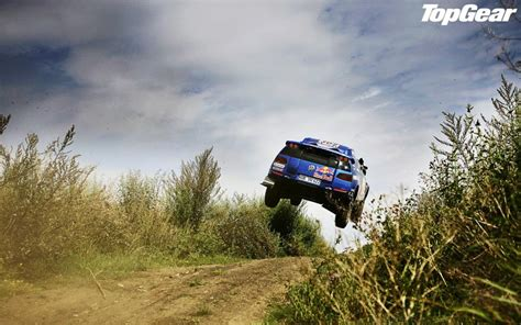 volkswagen rally jump stop action top gear hd wallpaper
