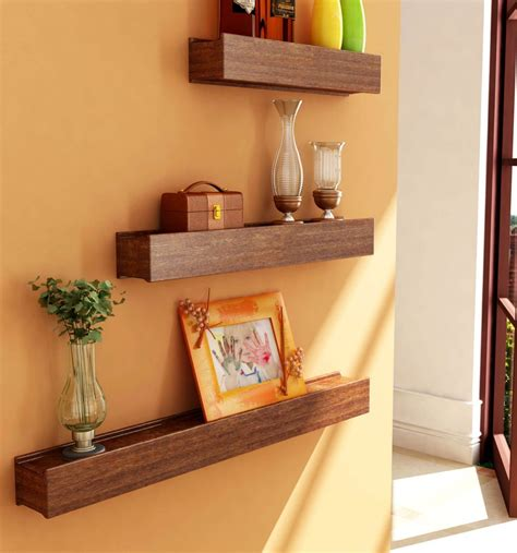 Small Home Decoration by Wooden Shelf For Home Decoration Three Pieces In Pakistan