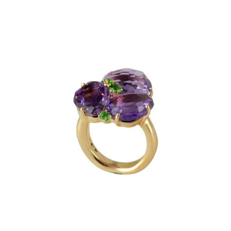 pomellato bahia pink gold pomellato ring quot bahia quot collection amethyst and