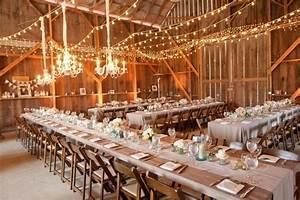 10 barn wedding decor ideas With barn party lights