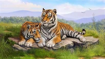 Gambar Macan 3d Wallpapers Harimau Desktop Cave