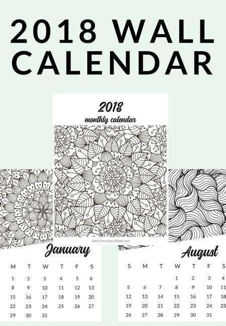 printable  adult coloring calendar  adult