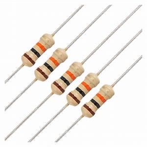 50 x 1/4W 250V 10K Ohm Axial Lead Carbon Film Resistors ...  10k