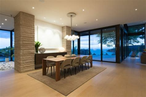 teppich für esszimmer mehrstufige residenz mit herrlicher aussicht auf vancouver