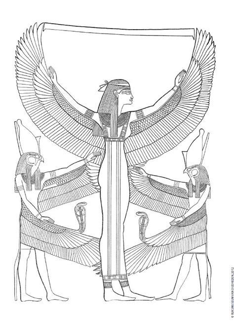 Kleurplaat Egyptenaren by Een Leuke Kleurplaat Drie Egyptische Goden Druk Op De