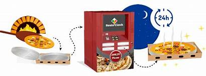 Pizza Machines Vending Manufacturer French Clock