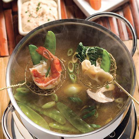 calorie cuisine japonaise fondue à la japonaise recettes cuisine et nutrition