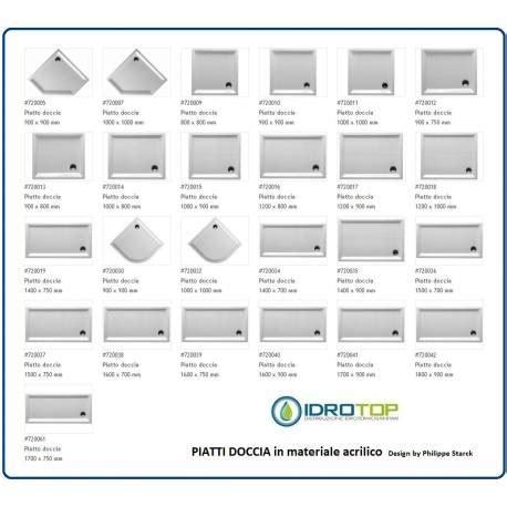 Piatti Doccia 60x60 by Piatto Doccia Rettangolare 900x750 Cod 720012 Starck