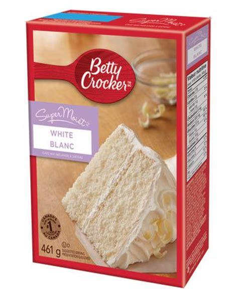white cake mix betty crocker supermoist white cake mix walmart canada 1305