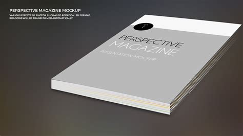 powerpoint  magazine mock  template