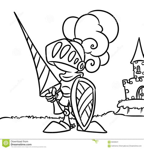Coloring Pages Knights And Castles