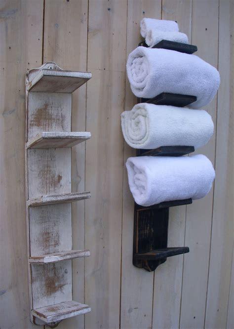 towel holder handmade bathroom towel holder rack bath decor wood