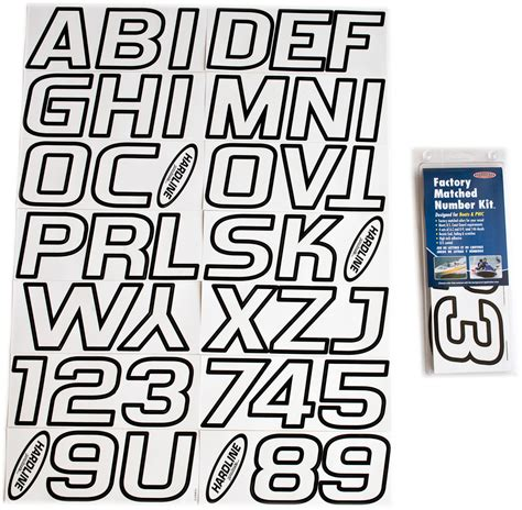 Boat Registration Lettering Size by White Black Boat Lettering Registration Numbers 700