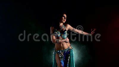 woman belly dancer arabian  exotic dress stock video