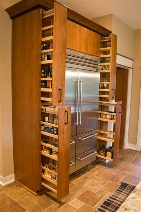 slide out spice racks for kitchen cabinets diy storage ideas 24 space saving clever kitchen storage 9767