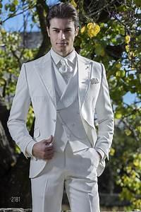 Costume Homme Mariage Blanc : costume italien de mariage homme blanc ivoire sur mesure ~ Farleysfitness.com Idées de Décoration