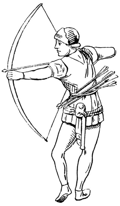 archer  century england clipart