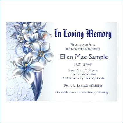 funeral invitation template cards announcement