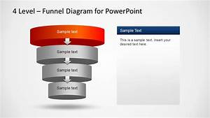 3d Layered Funnel Powerpoint Diagram