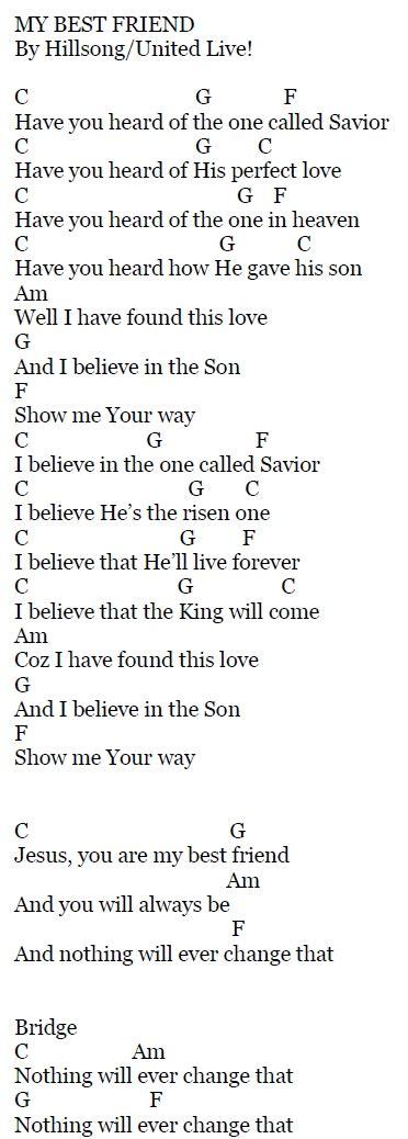 My Jesus My Savior Chords